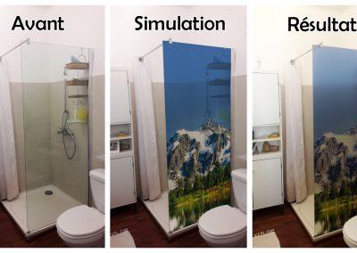 Adhésif salle de bain