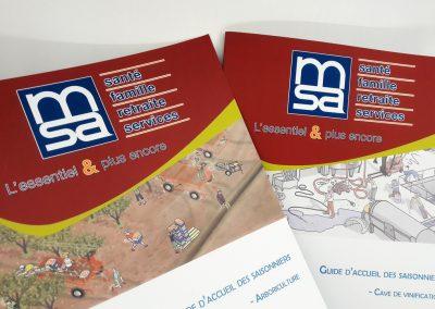 Brochures points métalliques - 16 pages